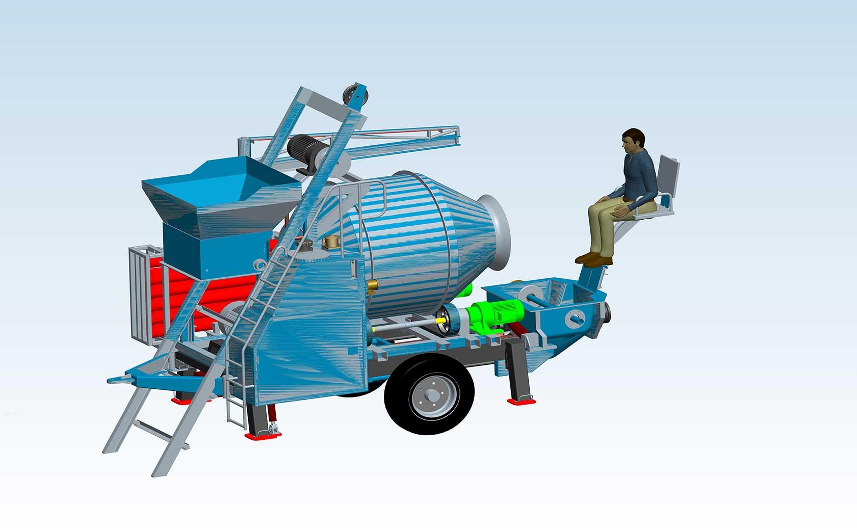 小型泵车设计图